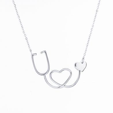 Halsband Stetoskop, Silver