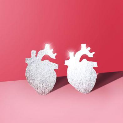 Örhänge Hjärta i silver