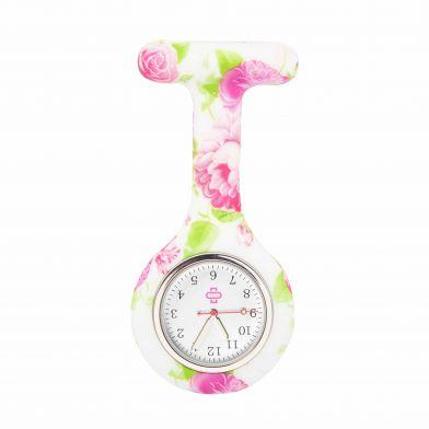Flowerbomb sjuksköterskeklocka, vit / rosa