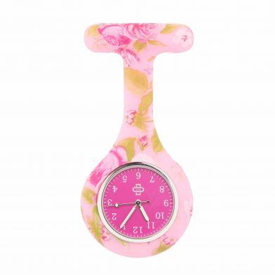 Flowerbomb sjuksköterskeklocka, rosa + rosa ur