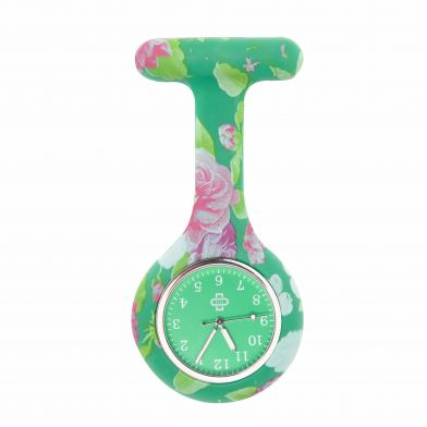 Flowerbomb sjuksköterskeklocka, grön + grönt ur