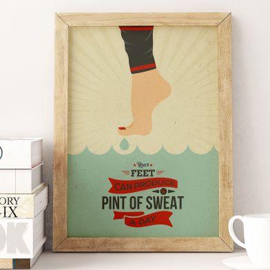 "Poster ""Sweat"" 40x50 cm"